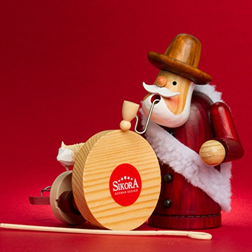 SIKORA Räuchermännchen aus Holz Serie A - 2 Größen - verschiedene Motive, Farbe Modell RM:A15 rot - Schäfer;Größe RM:Höhe ca. 19.5 cm - 4