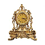 CWLLWC Orologio da Tavolo,Orologio da Camino Creative Orologio Antico Muto Salotto Comodino retrò Seduta Ornamenti Orologio 25 * 33 * 14cm