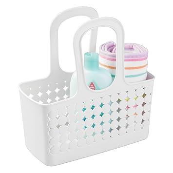 MDesign Baby Badezimmer Korb   Organizer Dusche Und Bad   Aufbewahrungsbox    Farbe: Weiß