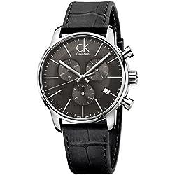 Calvin Klein Reloj Cronógrafo de Cuarzo para Hombre con Correa de Cuero – K2G271C3