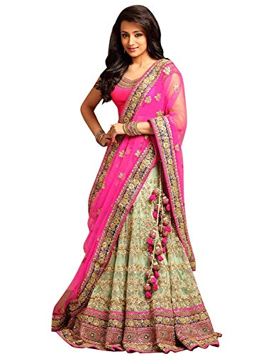 Drashti villa Women's Embroidered Semi Stitched lehenga choli With Blouse Piece (Free...