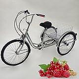 24 Zoll Dreirad Für Erwachsene 6 Gang Senioren Shopping Fahrrad Mit Korb Adult