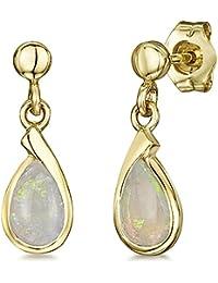 Theia 9ct Yellow Gold Opal Drop Earrings IppK9