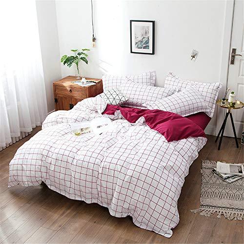 YUNSW Moderne Edredon Schwarz Weiß Streifen Mode Plaid Bettbezug Set König Königin Twin Quilt Eine 180x220 cm - Camouflage Königin Blatt