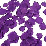 Demarkt 1000 Pétales de Rose en Soie pour Mariage ou Décoration de Fête - Couleur Violet