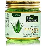 Indus Valley Bio Organic Non-Toxic Aloe Vera Gel for Acne, Scars, Glowing & Radiant Skin Treatment-175ml