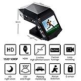 Dash Cam 1080P FHD DVR Autofahren Recorder 2.0 LCD Bildschirm 170 ° Weitwinkel, 1200 Millionen Pixel, G-Sensor, WDR, Park-Monitor, Loop-Aufnahme, Bewegungserkennung