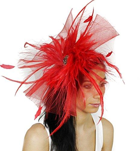 Superbe Aneta Grand Ascot Derby Bibi Chapeau–avec bandeau–Disponible en 30couleurs Orange - Orange brûlé