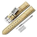 CHIMAERA Vitello Vera Pelle Croco Cinturino unisex 18mm 19mm 20mm 21mm 22mm sostituzione Steel Band Buckle (9 Opzione di colore)