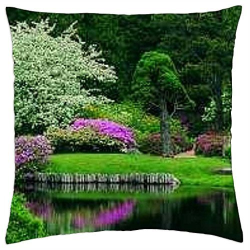Azalea garden - Throw Pillow Cover Case (16