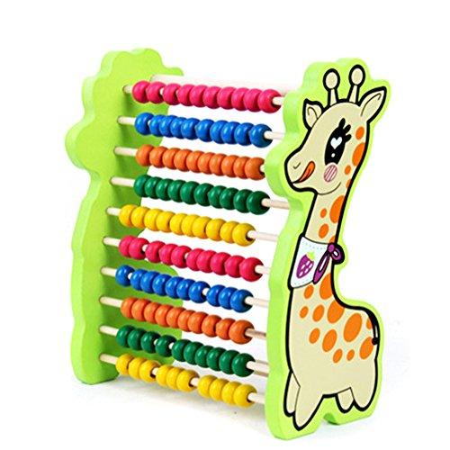 TININNA Kinder Giraffe Hölzern Abacus Soroban Rechenrahmen Mathematik Zählrahmen Rechenschieber Berechnung Tool Werkzeug (Abacus Für Kinder)