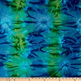 Benartex Bali Batiks Colorama II Cloud Blue/Green Fabric