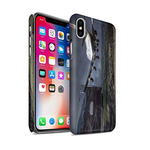 STUFF4 Matte Snap-On Hülle / Case für Apple iPhone X/10 / Große Flucht Muster / Vorstellen Kollektion Harten Landung