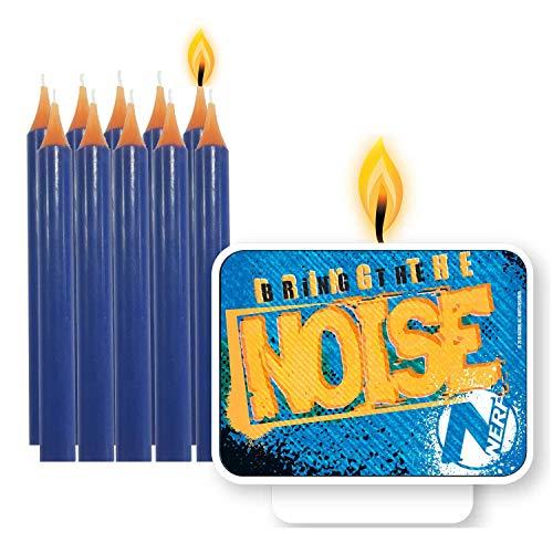 Lot de 11 Bougies « Nerf » pour Anniversaire d'enfant - Décoration pour gâteau d'anniversaire