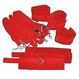 Yahee Bett Bondage Kit Handfesseln und SM-Spiel-Spielzeug Fußfesseln Fesseln Sexy Rot