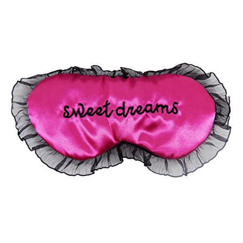 Schlafmaske Augenmaske Schatten Abdeckung Augenbinde Schlafbrille Maske für Frauen Mädchen Reise Home Rest (Rose rot) (Rose-maskerade-maske)