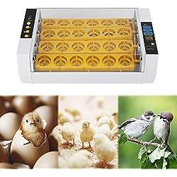 EBTOOLS Incubadora de 24 Huevos Torneado Automático de Huevos Control de Temperatura Digital Criadero de Pollo Polluelo (Enchufe de la UE)