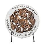 Home & Garden Blume Bronze Plaque Polyresin Friends Blessings God 's Love 13194