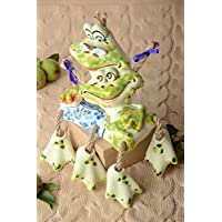Preisvergleich für Handgemachte Keramik lustige Spardose Geschenk Idee Spardose fur Kinder Frosche