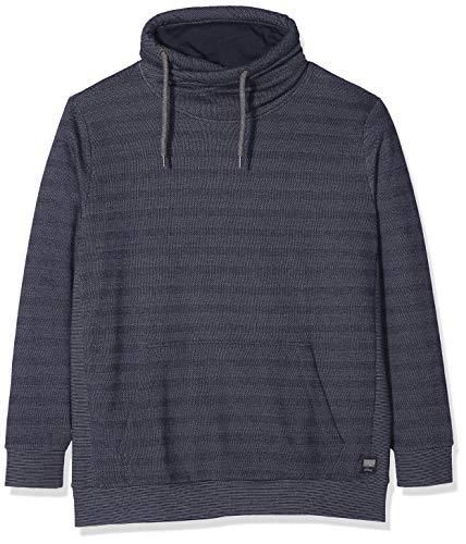s.Oliver Big Size Herren Sweatshirt 15.810.41.3254 Blau (Night Blue 59q0) XXXXX-Large Big Tall Herren-sweatshirts