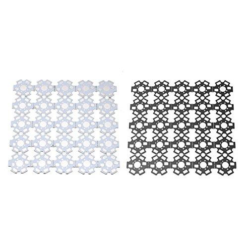 Bazaar 25 Stück High Power 20 MM RGB Platine Kühlkörper Aluminium Grundplatte Für 1/3/5 Watt Einzel LED Perle (Power Platine)