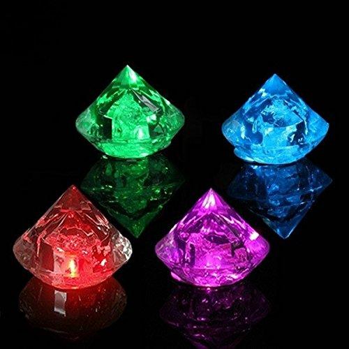 ZHENWOFC Diamantes LED Luminoso Cubo Hielo Flash Fiesta