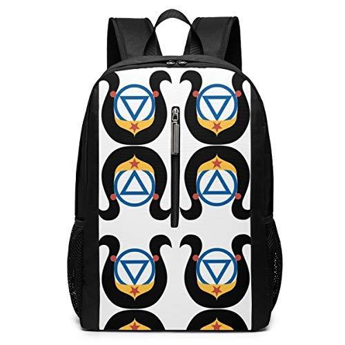 AA Wonderwoman Fabric (672) Travel Laptop Backpack School Bookbag 17 Inch