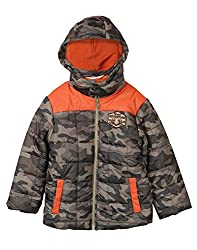 Beebay Boys Quilted Regular Fit Jacket (162169_Khaki_3-4 Years)