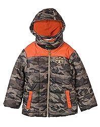 Beebay Boys Tafetta Boys Camouflage Print Jacket (Khaki ,6-12 Months)