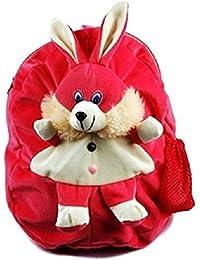 JBTLT ENTERPRISES Pink Rabbit Plush Soft School Bag For Kids,Travelling Bag, Carry Bag, Picnic Bag
