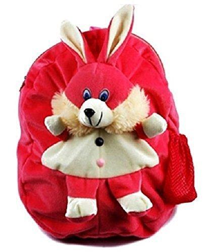 JBTLT Enterprises Pink Rabbit Plush Soft School Bag for Kids ,Travelling Bag, Carry Bag, Picnic Bag