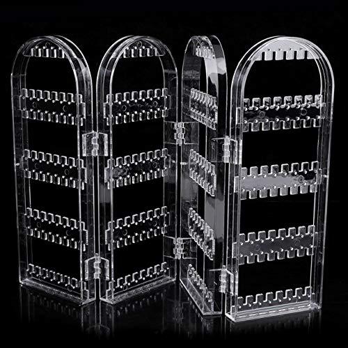 Fannty Transparenter Kunststoff Bildschirm Ohrring Schmuck Display Stand Inhaber Rack (Schmuck-geschenk-card-inhaber)