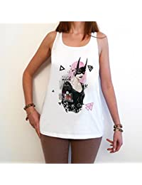 Dark night full moon T-Shirt Femme,Blanc, t shirt femme,cadeau