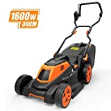 TACKLIFE Lawn Mower, 1600W Electric Lawn Mower, 3-in-1, Cutting Width 38 cm, 6