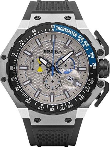 Nero / Argento Gran Turismo orologi di Brera Orologi