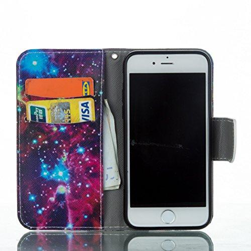 Voguecase Pour Apple iPhone 7 4,7 Coque, Étui en cuir synthétique chic avec fonction support pratique pour Apple iPhone 7 4,7 (forêt 02)de Gratuit stylet l'écran aléatoire universelle étoiles 07