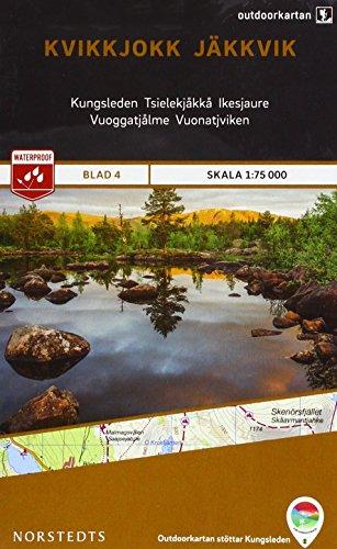 Kvikkjokk / Jakkvik 4 Outdoor Fjall 2015 (Outdoorkartan) por Norstedts kartor