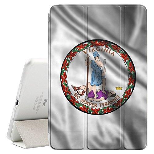 FJCases Virginia The Old Dominion State Wehende Siegel Flagge Smart Cover Tablet-Schutzhülle Hülle Tasche + Auto aufwachen/Schlaf Funktion für Apple iPad Mini 5 Old Virginia Mini