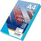 100 Einbanddeckel Lederstruktur, Falambi / Premium 240 Rückenkarton (türkisblau)