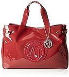 Armani Jeans 922591CC855, Borsa Shopper Donna, Rosso (Rosso (Bordeaux)), 26x14x40 cm (B x H x T)