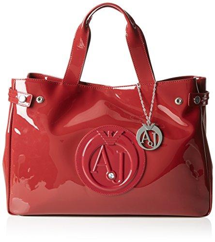 Armani Jeans  922591CC855, shoppers femme - Rouge - Rot (BORDEAUX 00176), 26x14x40 cm (B x H x T)