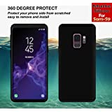 "Case Creation (TM) Ultra Thin 0.3mm Black Silicone Matte Finish Black Flexible Soft TPU Slim Back Case Cover For Samsung Galaxy S9 / Galaxy S9 5.8""inch 2018 (Black Soft Case)"
