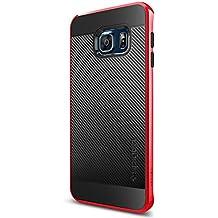 Spigen SGP11706 - Funda para Samsung Galaxy S6 Edge+, Rojo