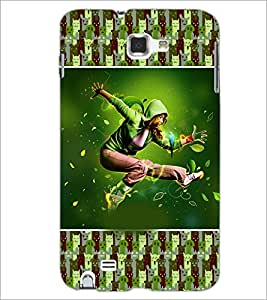 PrintDhaba Dancing Boy D-3626 Back Case Cover for SAMSUNG GALAXY NOTE 1 (Multi-Coloured)