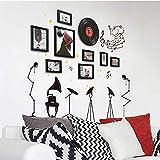 CQSMOO Mauer Skulptur Foto Wand, Wohnzimmer Fotorahmen Wand Foto Wand Kombination europäischen Stil kreative Persönlichkeit by (Farbe : A)