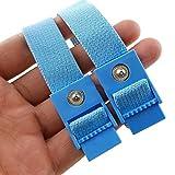 Xleathers Hi-Tec-Stimulator 2 blaue Penis Straps Elektro Straps, ESTIM Straps Bänder Schlaufen für Elektrostimulation im 2er Set, ohne Kabel