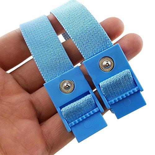 Xleathers Hi-Tec-Stimulator 2 blaue Penis Straps Elektro Straps, ESTIM Straps Bänder Schlaufen für Elektrostimulation im 2er Set, ohne Kabel - Lieferung erfolgt Schnell in 1 Tag