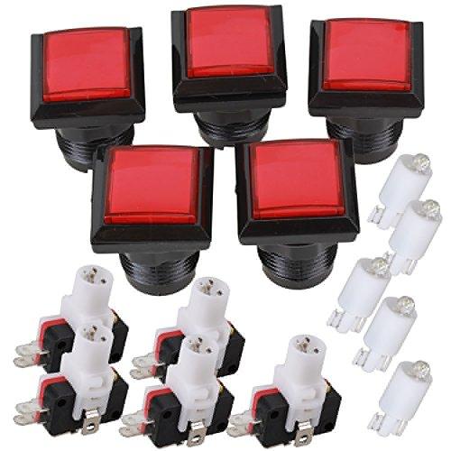 bqlzr-5x-arcade-console-de-jeu-rouges-carres-commutateur-bouton-poussoir-conduit