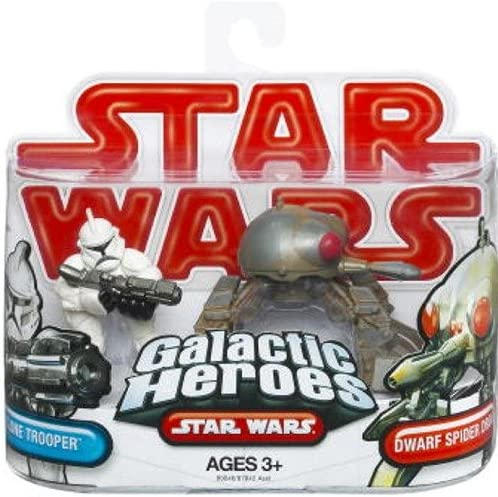 Star Wars Galactic Heroes 2-Pack Action Figures Figures Figures - Clone Trooper and Dwarf Spider Droid 0019a3