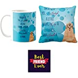 Yaya Cafe Friendship Day Gifts For Best Friends Together Like Hands Best Friends Set Of 3 Mug, Coaster, Cushion Cover